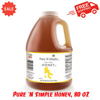 Pure 'N Simple Honey, 80 Oz, No Added Ingredients Or Preservatives, 100% Honey