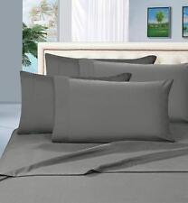 Elegant Comfort 1500TC Luxury Egyptian Quality 4pc Bed Sheet Set, Queen, Gray