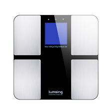 Lumsing 400lb LCD Digital Bathroom Body Weight Scale Tempered Glass +Batteries