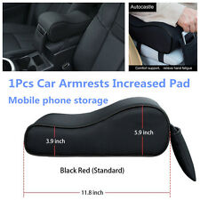 Car Center Console Armrests Leather Memory Foam Increased Pads w/ Phone Storage