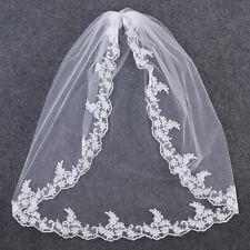 New 1-Layer Elbow Length Rhinestone Edge Wedding Bridal Veil With Comb USA
