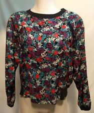 Carole Little Saint Tropez West Top Women Size 6 Vintage Blouse Long Sleeve Boho