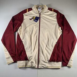 Joma Sport Men's Tracksuit Top Jacket Full Zip Burgundy/Beige Size L
