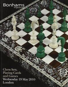 Bonhams 'Chess Sets, Playing Cards & Games' Auction Catalogue, May 2010