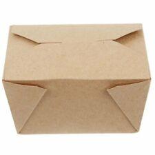 No. 1 Brown Kraft Deli Paper Food Box Takeaway Cardboard - 26oz  [50 - 450pcs]