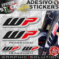 Adesivi / Stickers WP RACING SHOCK SUSPENSION KTM HONDA DUCATI BETA SUZUKI KAWA