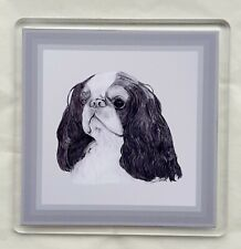 More details for king charles spaniel coaster by curiosity crafts 1 or set of 4