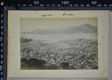 PHOTO JAPAN c.1880's TWO PHOTOS ON ONE CARDBOARD NAGASAKI & GEISHA (3647)