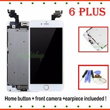 Display Digitizer White For iPhone 6 Plus LCD Touch Screen Home Button Camera UK