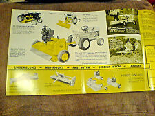 New ListingInternational Harvester Cub Low-Boy Cub Cadet Mott Mower Brochures New 582/6/99