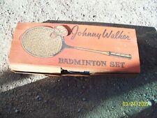 Vintage  JOHNNY WALKER  Badminton set. Original Box - 6 Rackets