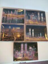 5 9/11 comemretive Plates Bradford Exchange 2002 Issue's 1st thru 5th.
