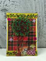 """ACEO Artist Trading Card """"Christmas Reef"""" Hand Made Glitter"""
