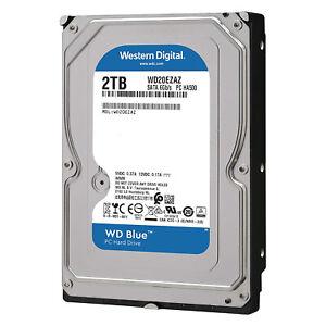 """HDD HARD DISK DISCO INTERNO 2TB WESTERN DIGITAL WD BLUE 3,5"""" SATA III 5400 RPM"""