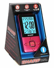 Sharp LCD Travel Alarm Clock - Pink