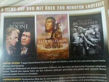 DVD 3  WESTERN   KINOFASSUNGEN  DANIEL BOONE +  LEDERSTRUMPF  + LETZTE MOHIKANER