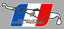CIRCUIT PAUL RICARD FRANCE RACING TRACK AUTOCOLLANT STICKER 12cmx5cm PC067