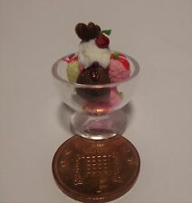 Échelle 1:12 mixte ice cream sundae doll house miniatures shop