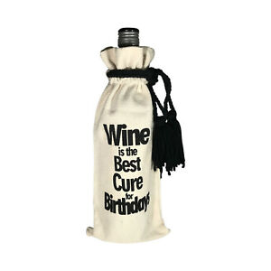 WINE BOTTLE GIFT BAG WITH QUOTE - ECO FRIENDLY and REUSABLE - BIRTHDAY/GIFT