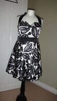 Beautiful Kurt Muller Wedding Party Cocktail Black Mix Dress Size UK 14