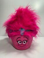 Trolls Poppy Pink Halloween Candy Trick Or Treat Bucket & Easter Basket Handle