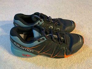 Salomon Speedcross Vario 2 men's trainers in black/orange - size 9.5