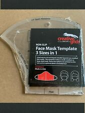 Creative Grid Face Mask Template 3 Sizes in 1~Non-Slip