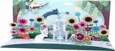 Garden Cats All Occasion Greeting Card 3D Pop Up Panoramics Up With Paper