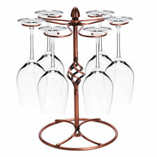 Bronze Metal Tabletop 6 Wine Glass Display Holder Drying Rack Stand Organizer