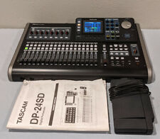 TASCAM DP-24SD Digital Portastudio Recorder + RC-3F Footswitch Lot BARELY USED
