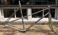 Raleigh Grand Prix 55cm Road Bike Frame + Fork Steel 27 X 1 1/4 MIXTIE! Mixte