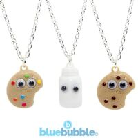 Bluebubble BFF Necklace Cute Googly Eyes Kitsch Kawaii Cool Retro Funky Fun Food