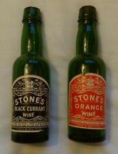 More details for 2 rare vintage stone's advertising miniature wine bottles -orange & blackcurrent