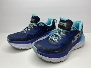 Hoka One One W Bondi 5 Women's Size 8 Running Shoes Trail Walking Outdoor Blue