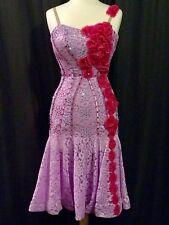 Je Bling Lavender w/Fuchsia Ballroom Competition Latin Rhythm US 6-10 Swarovski