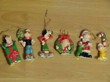 New ListingPopeve, Olive, Wimpy, Sweetpea Christmas ornaments King Feature Syndicate 1981