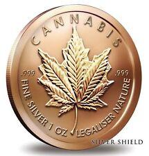 1 oz Copper Round - Cannabis