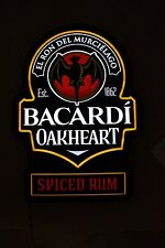 Bacardi Oakheart Spiced Rum LED Lighted Lit Sign  NEW IN BOX