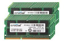 10pcs Crucial 4GB 2RX8 PC3-8500S DDR3 1066MHz 204Pin Laptop Memory RAM SO-DIMM