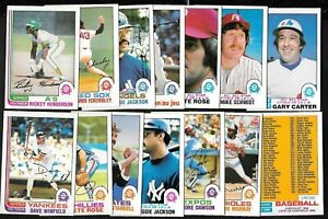1982 OPC O PEE CHEE TOPPS MLB BASEBALL CARD 265-396 + POSTER & WRAPPER SEE LIST