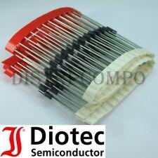 1N4007-13 Diode de redressement 1300V 1A DO-41 Diotec RoHS (lot de 50)