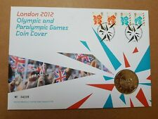 London 2012 Olympic & Paralympic Games £5 Coin Cover No.04235 with 4 Stamps