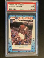 1989 Fleer Michael Jordan #3 All star PSA 9. Mint! Benefits Charity❤️👍❤️