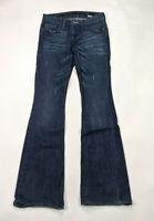William Rast Georgia Boot Cut Size 24 Low Rise Dark Wash Jeans