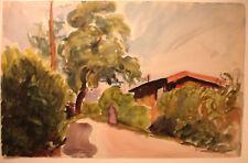 ANDRE MALTERRE (1889_1975)aquarelle-Paris-ZONE DE VANVES-1930 - 48 CM PAR 31 CM