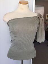 Prada Sweater 100% Silk NWOT Cool One Shoulder Bare