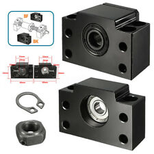 BK10 + BF10 Ballscrew End Support Bearing Blocks For SFU1204 CNC Machine Parts