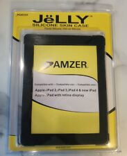 5 AMZER BLACK SOFT SILICONE SKIN JELLY FIT COVER CASES PROTECTOR FOR IPAD 2 3 4