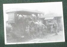 NOSTALGIA INK POSTCARD STEAM TRACTOR & DRIVER (1918).