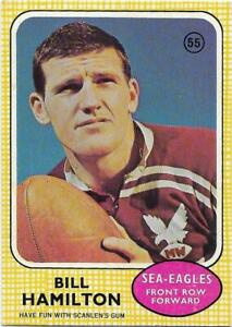 1970 Nrl Rugby League Scanlens (55) Bill HAMILTON Manly  ::